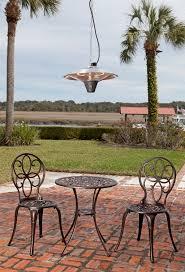 hanging patio heater. Gunnison Aluminum Hanging Halogen Patio Heater