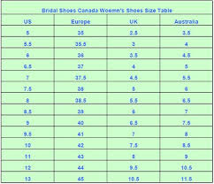 Shoe Size Compared To Height Chart Bridal Shoes Canada Shoes Size Chart Heel Height Width
