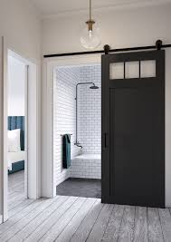 Jeff Lewis Design: Craftsman-style barn door.