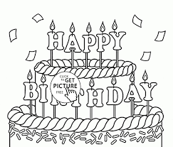 Birthday Cake Coloring Page Beautiful Pages 42 About Remodel Picture