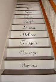 Inspiration Quotes Stair Riser Decals Stair Decals Stair Etsy Impressive Quotes Of Inspiration And Hope And Love