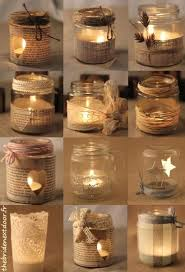 Decorating Candle Jars Rustic Christmas Mason Jar Ideas Here are different ways to 5