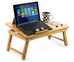 aleratec bamboo laptop stand lap desk for devices up to 15 inches com