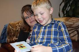lucas jeffery reads nolan faber s letter with his mother rachel lucas was inspired to