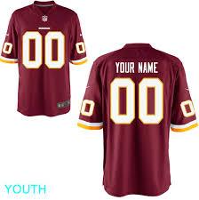 Youth Game Burgundy Jersey Washington Custom - Redskins
