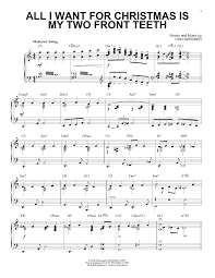 all i want for christmas is my two front teeth sheet music sheet music digital files to print licensed piano solo digital