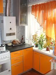 Orange And White Kitchen Kitchen Design White And Orange Kitchen Curtain Swag Match To