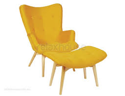 modern yellow chair. Interesting Modern Franklin Occasional Chair Ottoman Yellow  For Modern