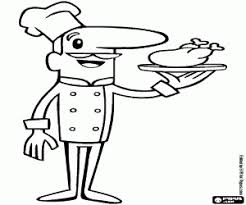 Restaurant Coloring Page The Chef Of A Restaurant Coloring Page Printable Game