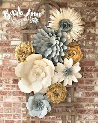 large paper flower wall decor for nursery more wedding large paper flower wall decor for nursery more wedding