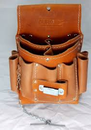 Construction Electrician Duracuir Construction Electrician Leather Tool Pouch With Belt Occidental