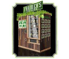 Fresh Salad Vending Machine Mesmerizing Farmer's Fridge Dispenses Healthy Salads And Snacks From A Reclaimed