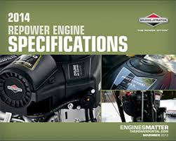 Small Engine Replacement Specifications   Briggs & Stratton