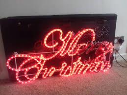 Large B & Q Christmas outdoor indoor light.