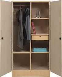 aft 2 door wooden wardrobe cupboard with mirror beige