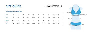 Jantzen Swim Size Chart Jantzen Bordeaux Scoop Neck One Piece Size Charts
