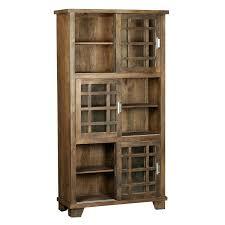bookcase with sliding doors manor mango wood door 3 tier hidden hardware bookcase with sliding doors