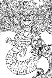 Small Picture Cheshire Cat Coloring Pages To Download And Print For Free New