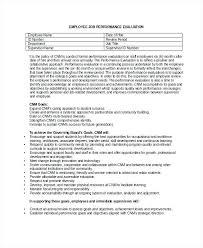 Employee Evaluation Form Example Free Word Documents Regarding Goals ...