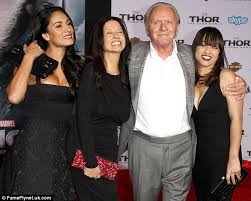 anthony hopkins family. Brilliant Family Sr Anthony Hopkins Was Accompanied By Wife Stella Second From Left For Family K