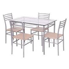 giantex 5 piece dining set table and 4 chairs gl top kitchen breakfast furniture want
