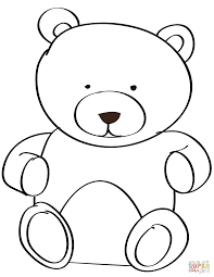teddy bear color pages