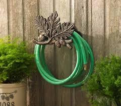 oak leaf garden hose holder stake