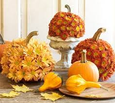 fall flowers and pumpkins pictures