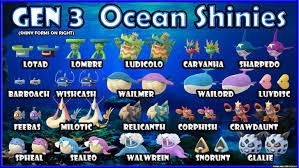 Fixed Shiny Check Gen 3 Ocean Shiny Chart Imgur