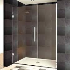 rimless shower doors x inch clear glass chrome finish rimless shower doors