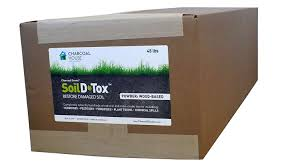 bulk 45lb box charcoal green soil d tox wood based powder agricultura organic gardening naturally remove toxins decontaminates soil easy to use
