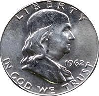 1959 Franklin Half Dollar Value Chart 1962 Ben Franklin Half Dollar Value Cointrackers