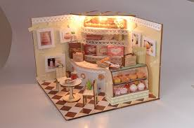 Cake Shop Doll House Plan Toy Model Building Diy House Bm 523 .