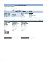 Employee Status Employee Status Change Form Microsoft Templates Templates