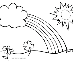 Flower Easy Coloring Pages For Adults