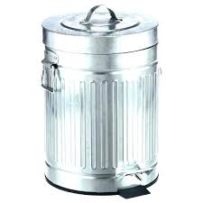 kitchen trash can with lid. Garbage Can With Lid Silver Trash Cans Kitchen Gal New Galvanized Step .