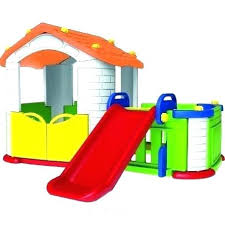 kids playhouse with slide playhouse slide big happy playhouse with slide playhouse with slide and swing design ideas for small bathrooms home
