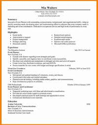 Best Event Planner Resume Example Livecareer Objective Photo