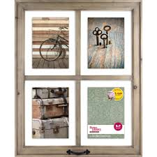 better homes gardens 18 12 x 1 00 x 22 12 4 openings rustic windowpane collage frame