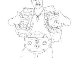 Wwe Coloring Pages Roman Reigns Of Download John Cena Printable