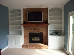 the built in shelving around fireplace to give you a gorgeous framed fireplace display square decor fabulous home interior ideas