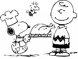 Stylish Charlie Brown Thanksgiving Coloring Pages regarding ...