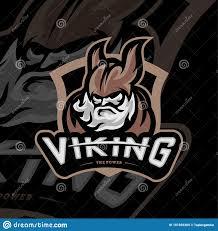 Gaming Logo Design Free Viking Esports Logo Design Vector Viking Mascot Gaming Logo