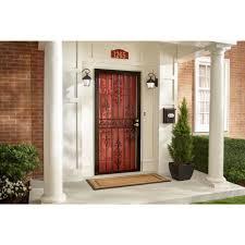 black metal screen doors. El Dorado Black Surface Mount Outswing Steel Security Door With Heavy-Duty Expanded Metal - The Home Depot Screen Doors V