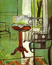 famous painting the window interior with forget me nots of henri matisse