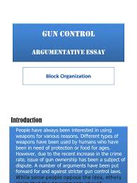 argumentative essays against gun control  argumentative essays against gun control