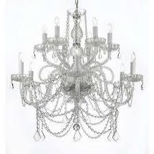 venetian style 12 light swarovski crystal chandelier