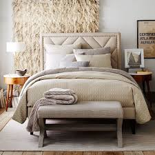 view in gallery diamond pattern bedding in shades of cream