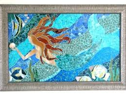 mosaic wall art sea glass projects diy tile design of interior ideas