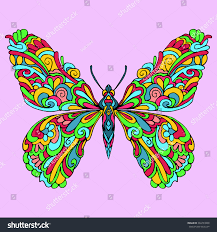 Butterfly Patterns Impressive Amazing Butterfly Lines Patterns Vector Color Stock Vector Royalty